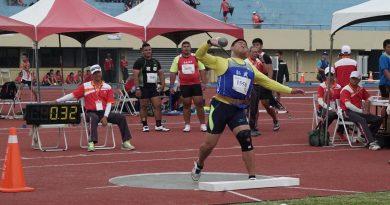 《田徑》好友漏氣求進步 賴晉豪 馬皓瑋破高男鉛球大會紀錄