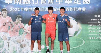 《足球》中華男足出征世界盃資格賽 華南銀行冠名力挺